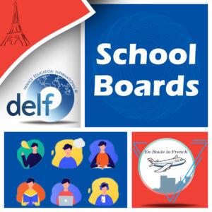 En Route to French - SCHOOL BOARD Banner