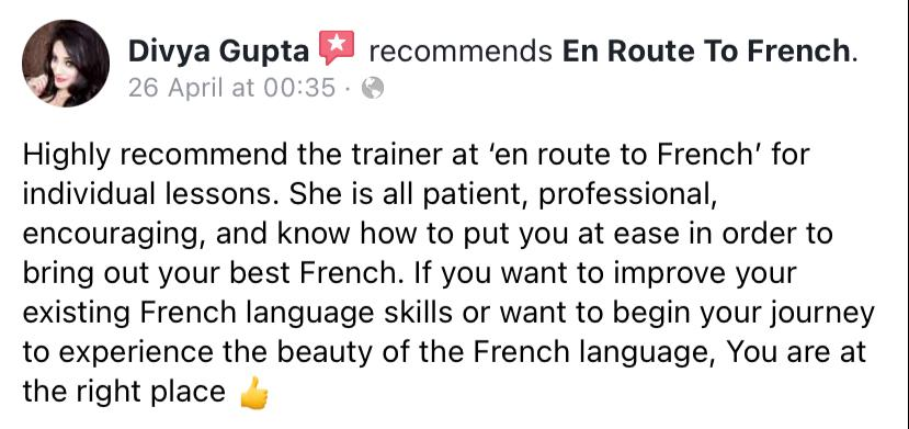En Route To French - Review-Divya
