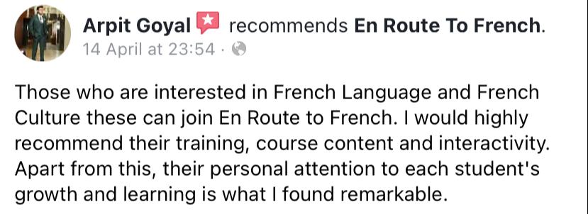 En Route To French - Review-Arpit