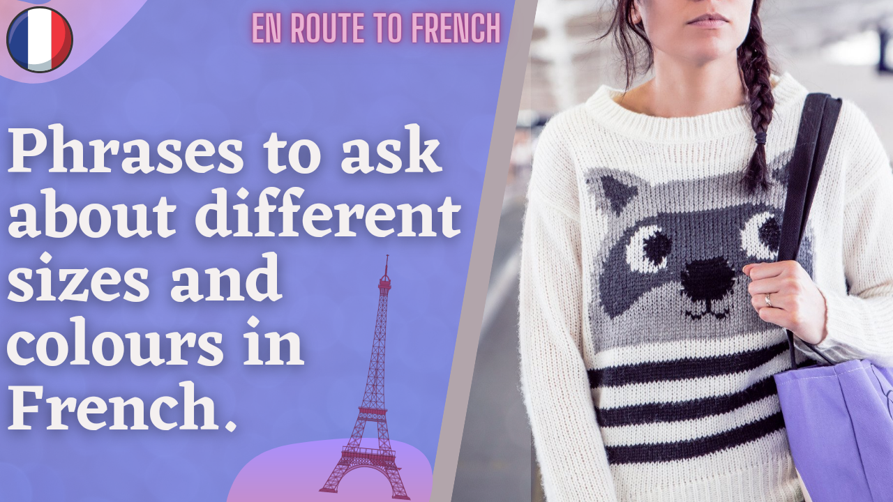 French Expressions- How to ask size & colour in french